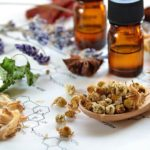 herbs and essential oils